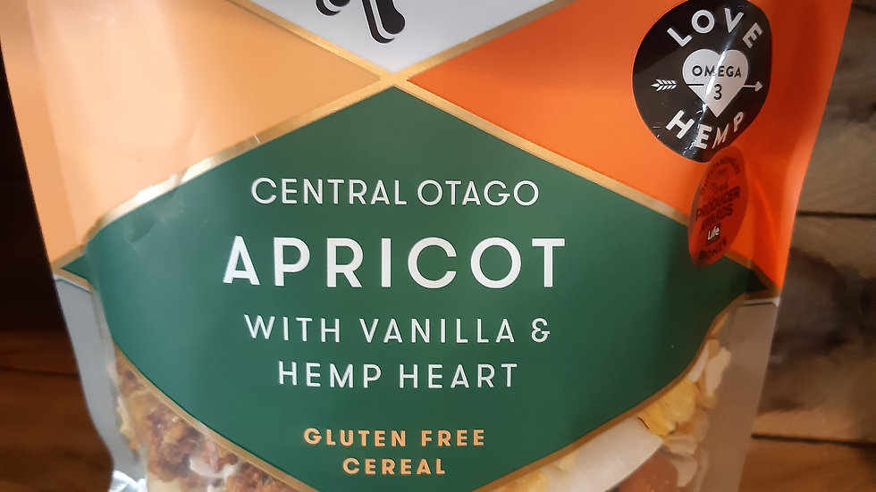 Blue Frog Apricot Vanilla and Hemp Cereal