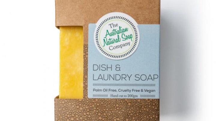 The Australian Natural Soap Co Dish & Laundry Soap Bar