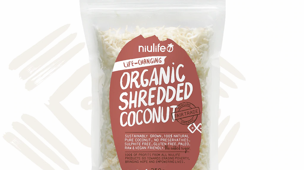 Shredded Coconut - Certified Organic 250g Pouch