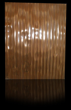 Wellenplatte veredelt mit Bronze