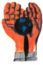 hands world young mundo mãos desenho ilustração editorial illustration magazine revista