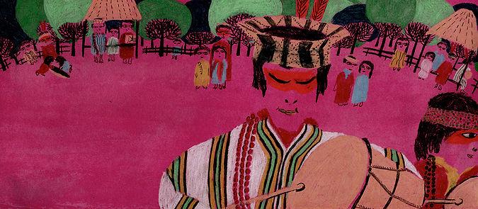 Brazilian Indians Ashaninka Trees Ritual Drumms
