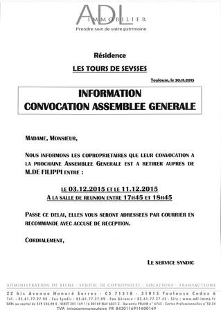 Convocations AG à retirer ...