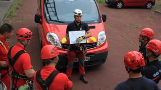 Entraînement des pompiers aux Tours de Seysses