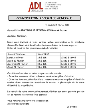 Convocations AG