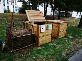 Compostage collectif...1ère récolte de compost mûr :-)