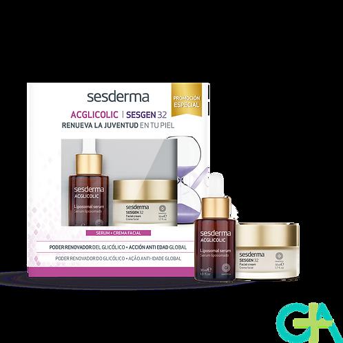 SESDERMA ACGLICOLIC Liposomal serum + SESGEN 32 Crema activadora celular