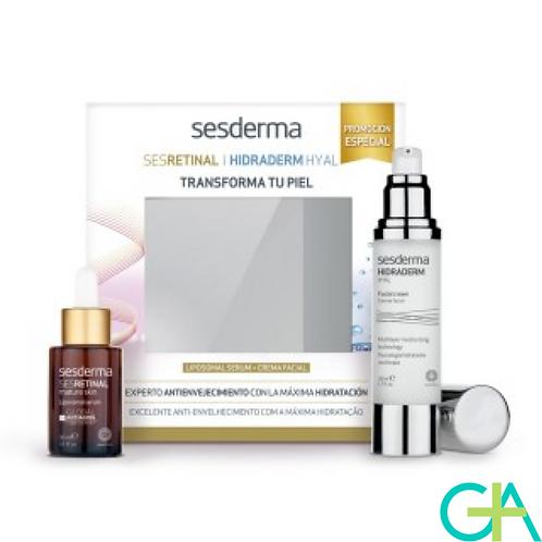 SESDERMA SESRETINAL SERUM + HIDRADERM HYAL CREMA