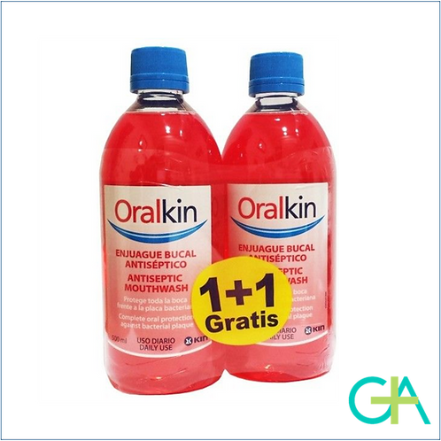 kin Oralkin Enjuague bucal antiséptico 500ml (1+1)