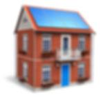 House solar panels