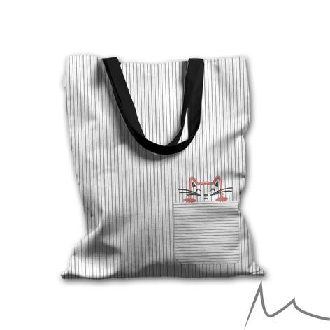 041 Cute Cat Tote Bag