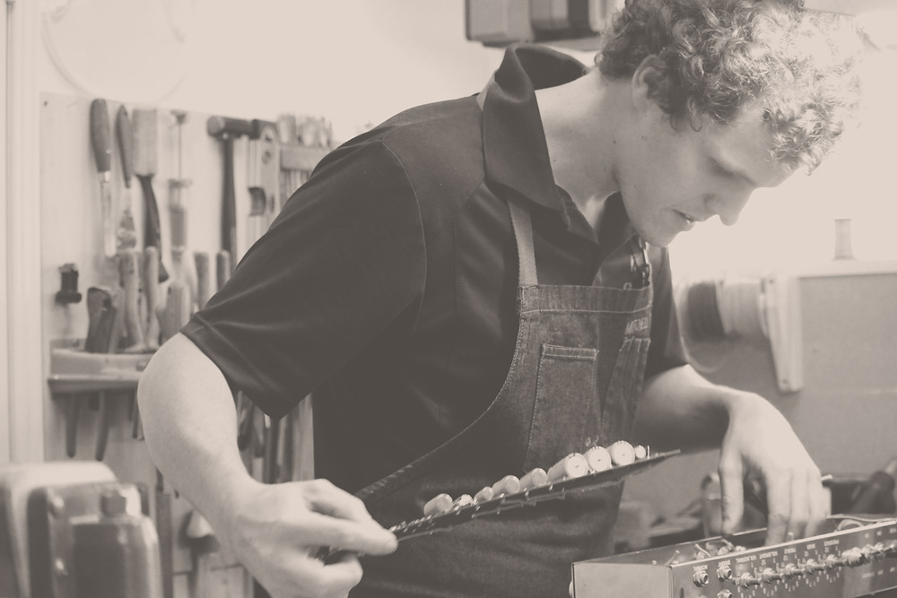 Mitchell Morris making amps