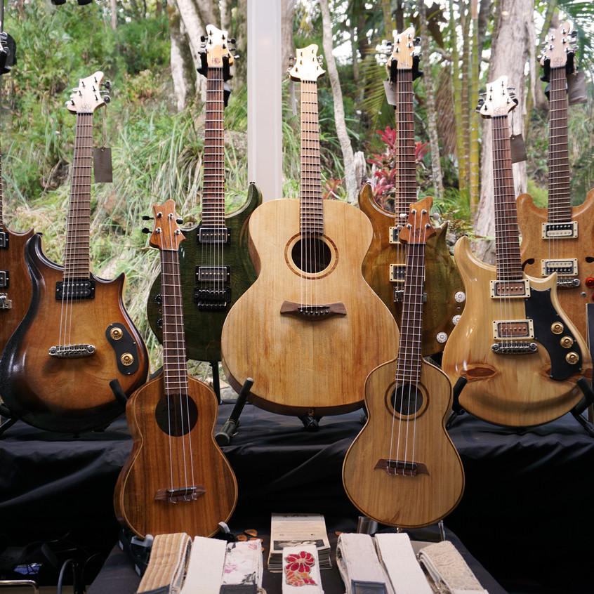aPurla guitars on display