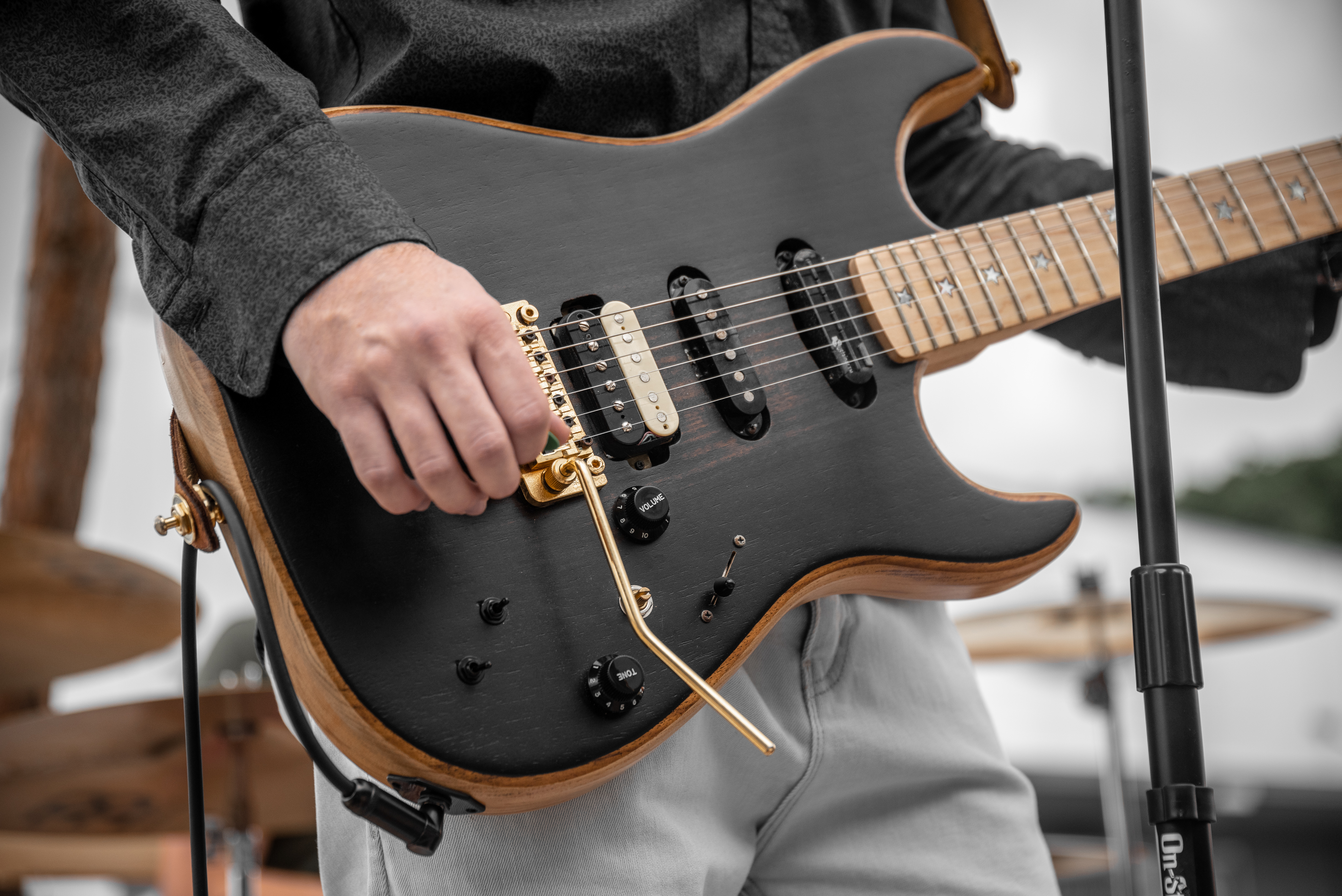 Isaac's custom aPurla guitar