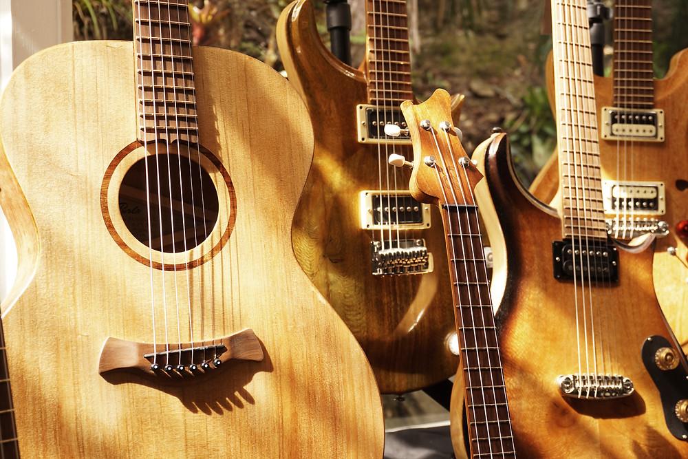 aPurla guitars at the byron bay guitar festival 2019