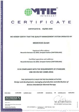 ISO13485 Zertifikat Calopad