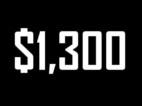$1300