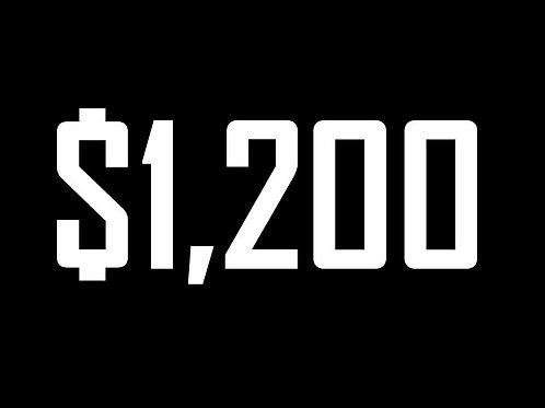$1200