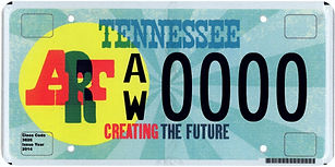Arts License Plate