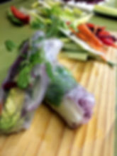 Rice paper rolls at The Green Room Salad Bars