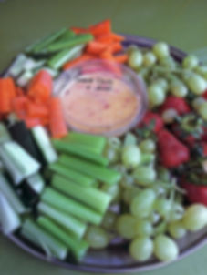 Fruit and Veg Dipping Platter at The Green Room Salad Bars