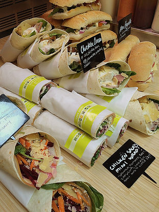 Fresj wraps and rolls at The Green Room Salad Bars