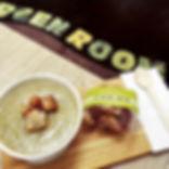 Hot soup at The Green Room Salad Bars