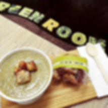 Soup and Croutons at the Green Room Salad Bars
