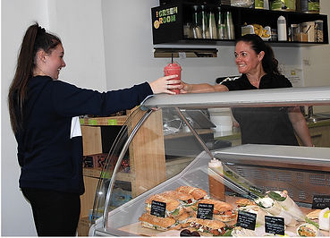 Another happy customer at The Green Room Salad Bars