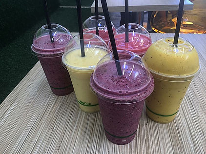 Smoothies at The Green Room Salad Bars
