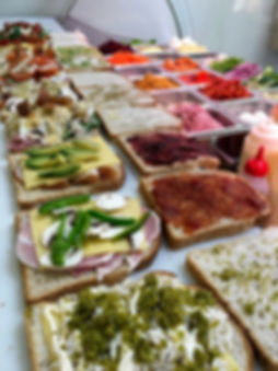 Sandwiches at the Green Room Salad Bars