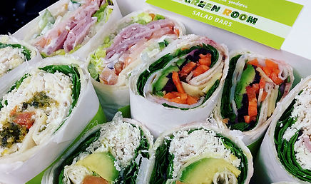 Wraps at The Green Room Salad Bars