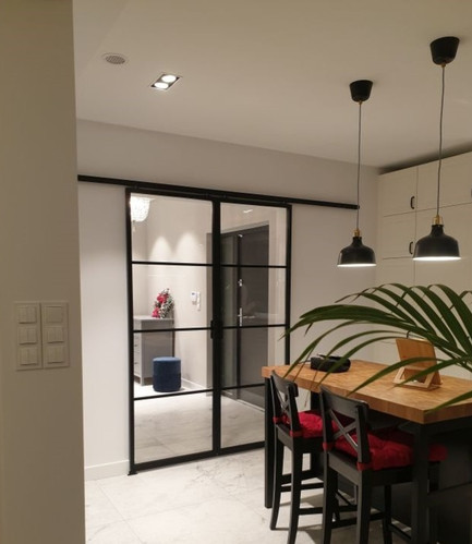 Double sliding crittall door