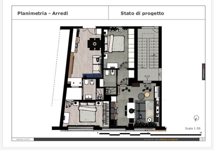 Planimetria-Arredi/Via Casella 45