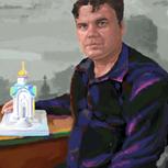 А. Грешилов, портрет, архитектор В. Яковлев, репродукция