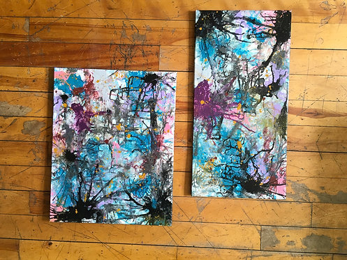 ( 2 )Piece Abstract painting