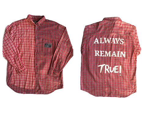 Mens Bleached red Button up