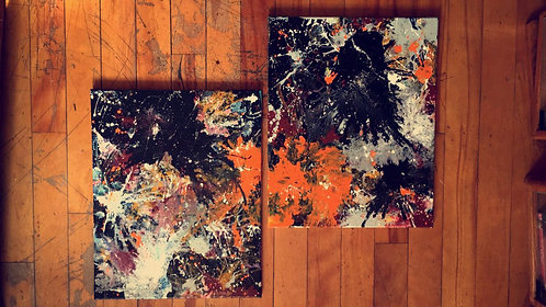 (2) Piece Abstract Painting