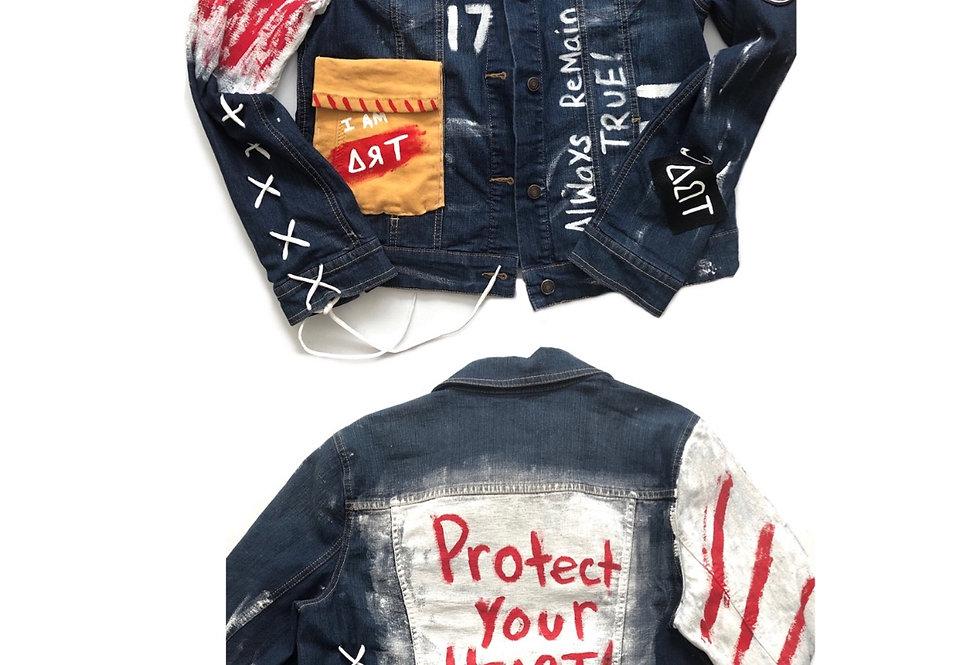 womens jean art jacket