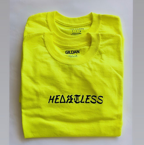 neon yellow he(art)less (size small)