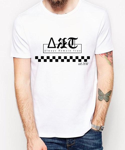 unisex checkered ∆ЯT t-shirt