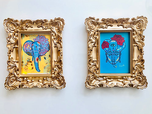 5x7 vintage framed Art work