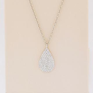 14k white gold, .19ct total weight diamond pendant