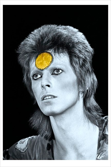 """David Bowie © Mick Rock, 1973  11""""x14"""" $1,500 USD (limited edition of 90)  16""""x20"""" $2,500 USD (limited edition of 90)  20""""x24"""" $3,000 USD (limited edition of 50)  24""""x30"""" $4,700 USD (limited edition of 35)  30""""x40"""" $8,500 USD (limited edition of 25)  40""""x60"""" $15,000 USD (limited edition of 10)"""