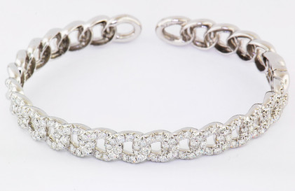 14k white gold 4.94ct total weight diamond link bracelet