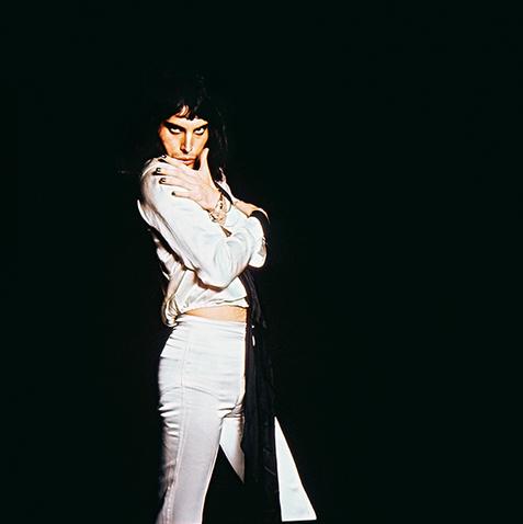 "Freddie Mercury In White London 1974 © Mick Rock  11""x14"" $1,200 USD (limited edition of 90)  16""x20"" $2,000 USD (limited edition of 90)  20""x24"" $2,500 USD (limited edition of 50)  24""x30"" $4,000 USD (limited edition of 35)  30""x40"" $7,000 USD (limited edition of 25)  40""x60"" $12,000 USD (limited edition of 10)"