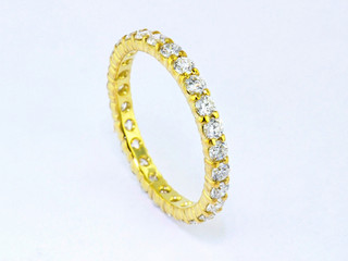 14k yellow gold 1.30ct total weight diamond eternity band
