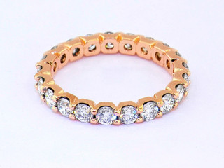 14k rose gold 2.05ct total weight diamond eternity band