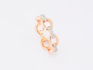 14k rose gold, .25ct total weight, prong set diamond ring