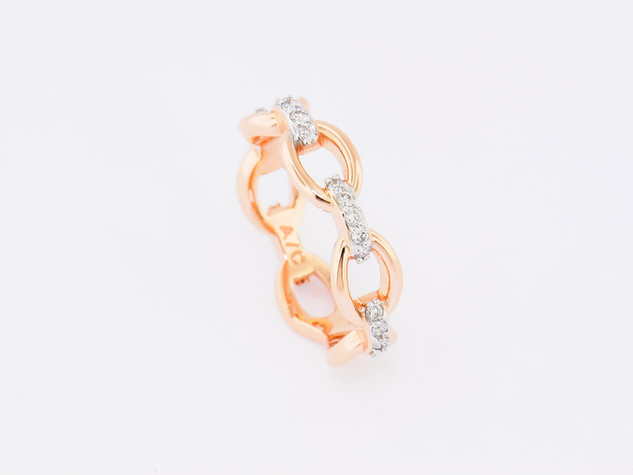 14k rose gold, .25ct total weight, prong set diamond ring
